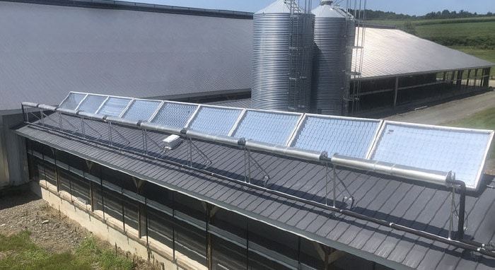 Skyven Technology's Intelligent Mirror Array™ at Copses Farms, a Rensselaer County dairy farm