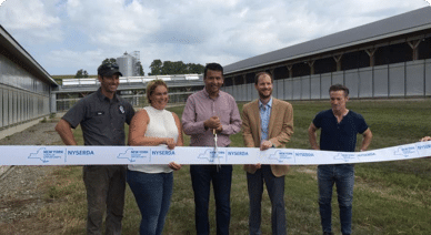 Solar water heating system installed at Valley Falls dairy farm